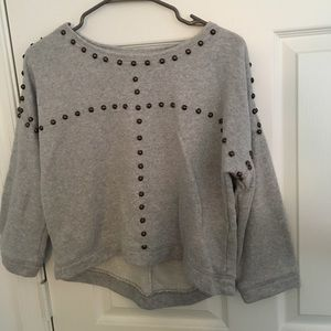 Gray Studded Sweater